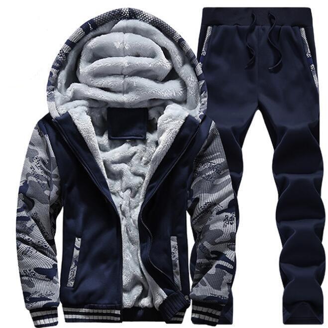 2018 winter clothing plus velvet Jackets men's sports camouflage suit men's extra large size slim thick warm jacket 5XL