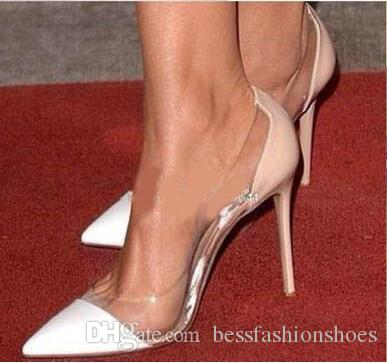 White Nude Gold Red Patent Leather