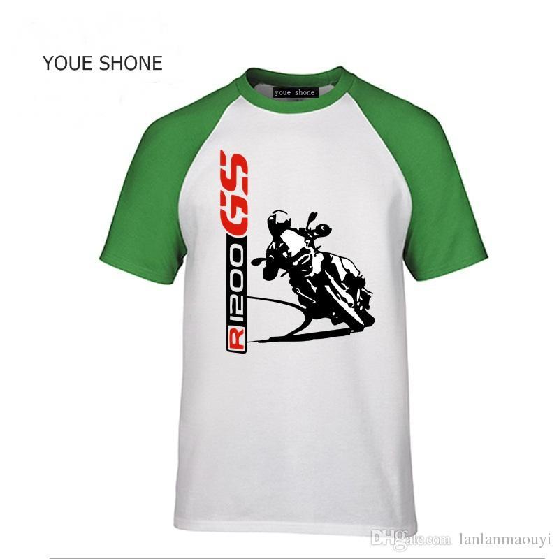 R1200 GS TShirt da uomo Fashion New Top Tee shirts Maglietta personalizzata 1200 GS T-SHIRT Motocicletta Motorrad 100% cotone Magliette Tees Polo