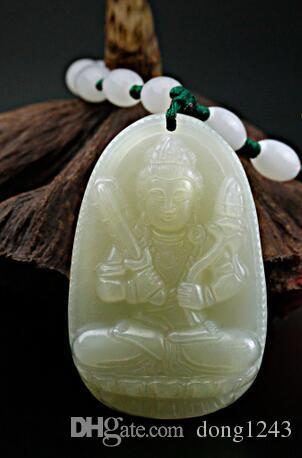 Natural Hetian Jade Void Bodhisattva pendiente de rehabilitación es un género de tigres y patronos