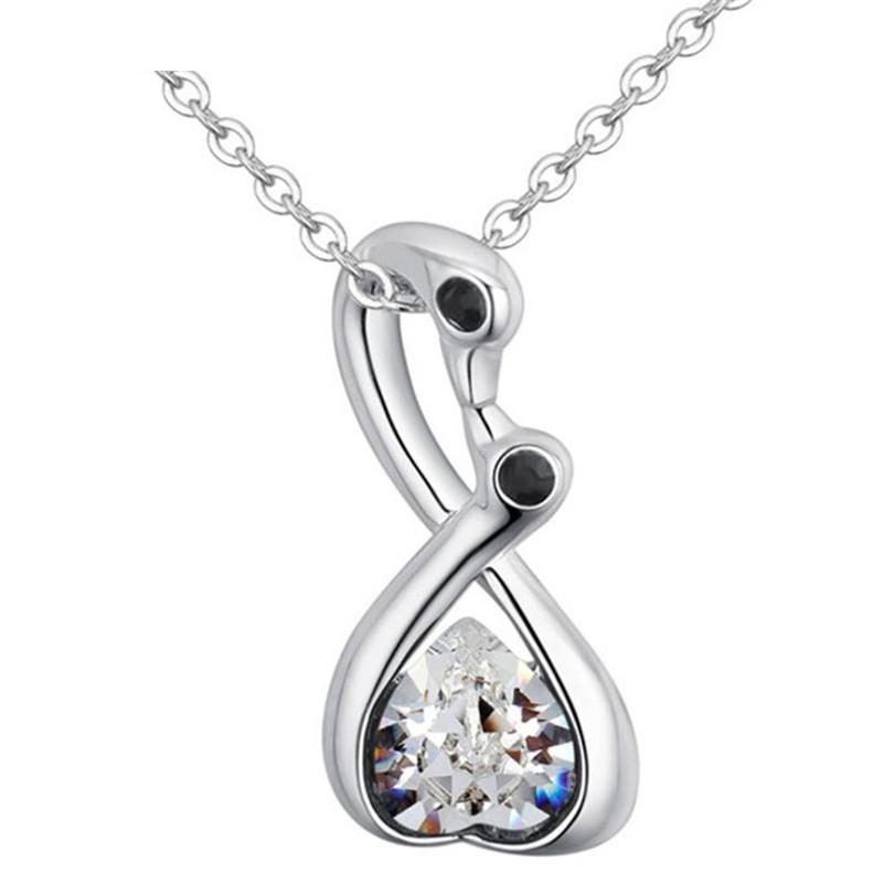 New Design Crystal Necklaces Made with Crystal from Swarovski Elements Chain Collier Jewel for Women Children Jewelry 28080