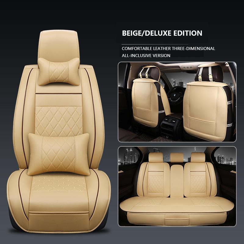 Siège-auto Housses Mercedes Classe C Universel Beige Sitzbezüge Housse De Siège Voiture Set