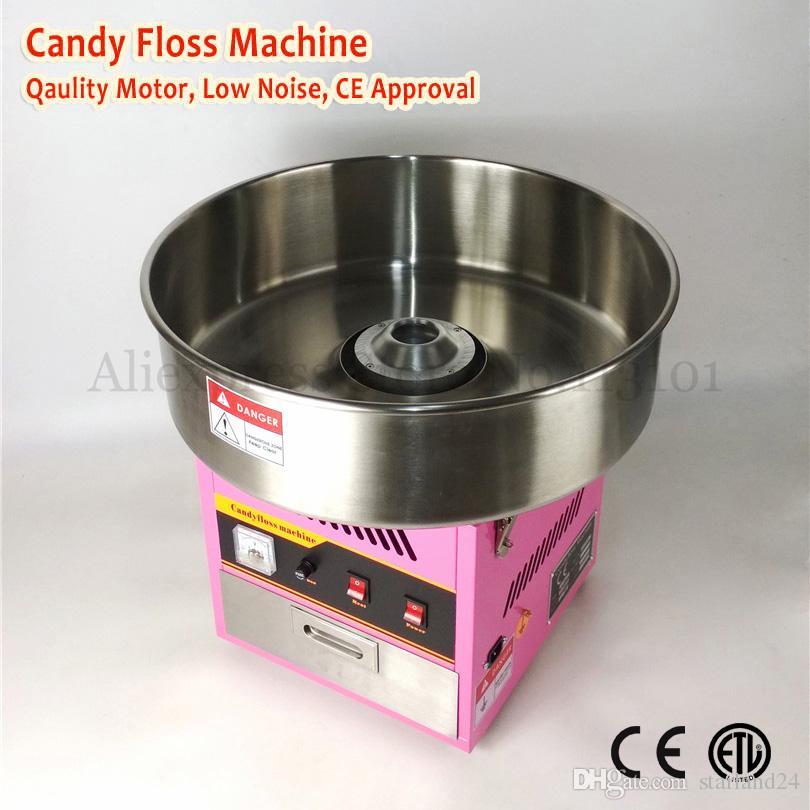 Peri Ipi Makinesi Elektrikli Pamuk Şeker Çekmece ile Çekmece 52 cm Paslanmaz Çelik Kase Pembe Renk 220 V 1030 W