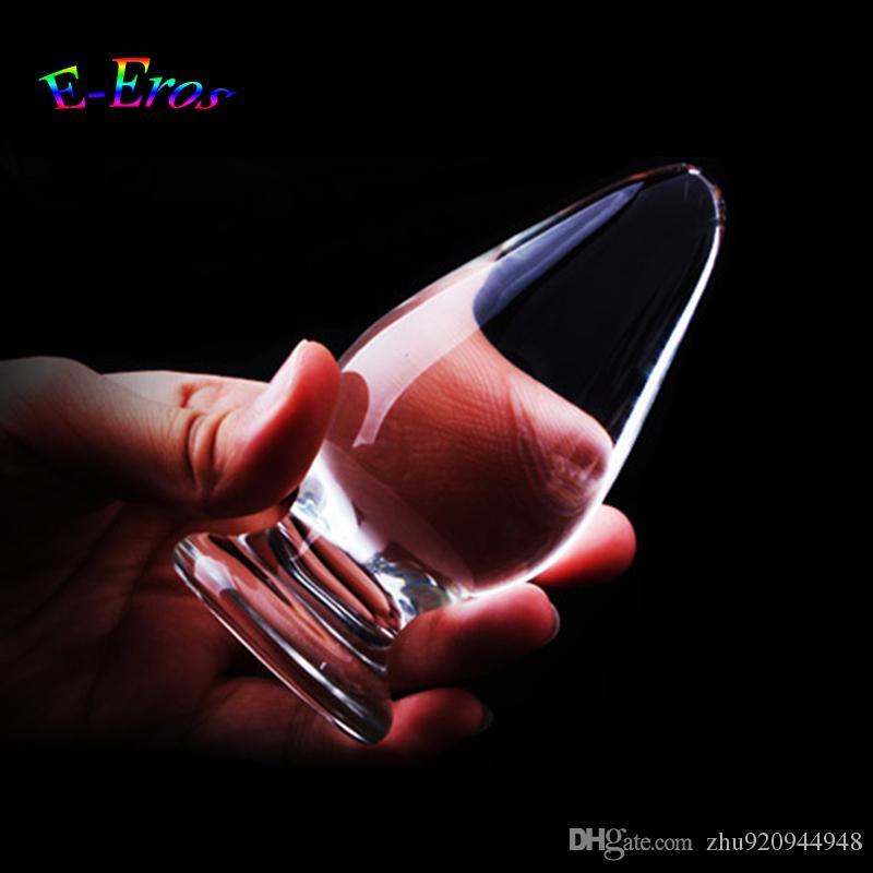 107x45mm verre anal bouchon gros bout à bout de masturbation stimulateur de masturbation cristal anus dildo sexe jouets adulte