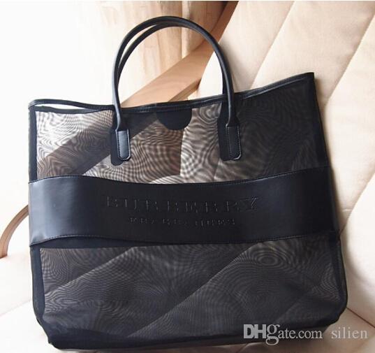 High Quality Makeup Bags Large Transparent Cosmetic Bag Fashion Shoulder Bag Beach Bag women handbag items FREE SHIPPING