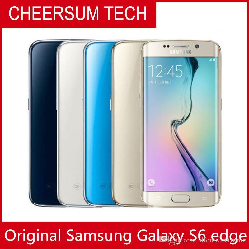 Разблокированный оригинальный Samsung Galaxy S6 Edge G925A G925F S6 Edge Octa Core Mobile Phone 3G4G 16 MP Camera 5.1 '' Восстановленный телефон