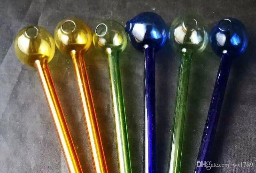 2018 neue Farbe Glas gerade Topf, Großhandel Bongs Ölbrenner Glas Rohre Wasserleitungen Glasrohr Öl Rigs Rauchen Kostenloser Versand mhjh