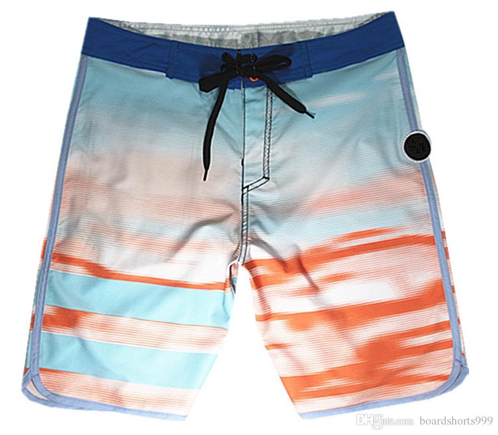 Brand New 4Way Stretch Fashion Shorts Mens Bermudas Shorts Beach Pants Board Shorts Spandex Swim Trunks Quick Dry Surf Pants Swimming Trunks