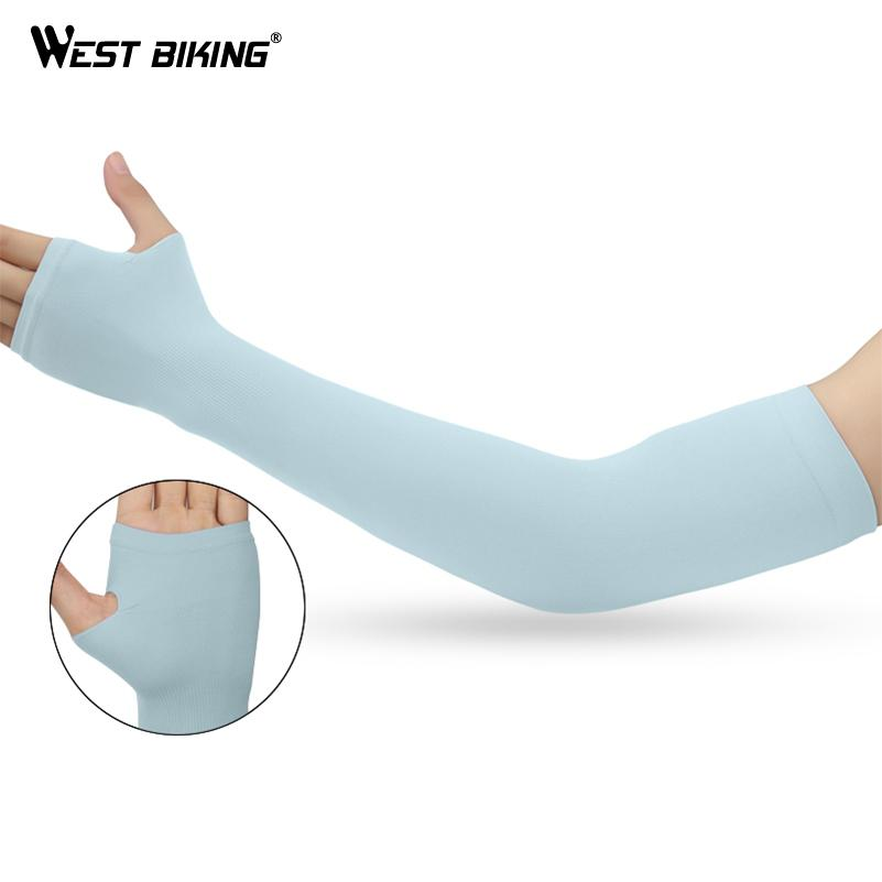 Long Arm Sleeves UV Sun Protection Outdoor Sport Arm Warmers Non-Slip Fast Dry