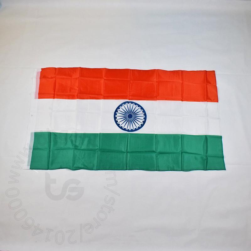 الهند / العلم الوطني الهندي الحرة الشحن 3X5 FT / 90 * 150CM شنقا الهند / الهندي العلم الوطني الديكور المنزلي العلم راية