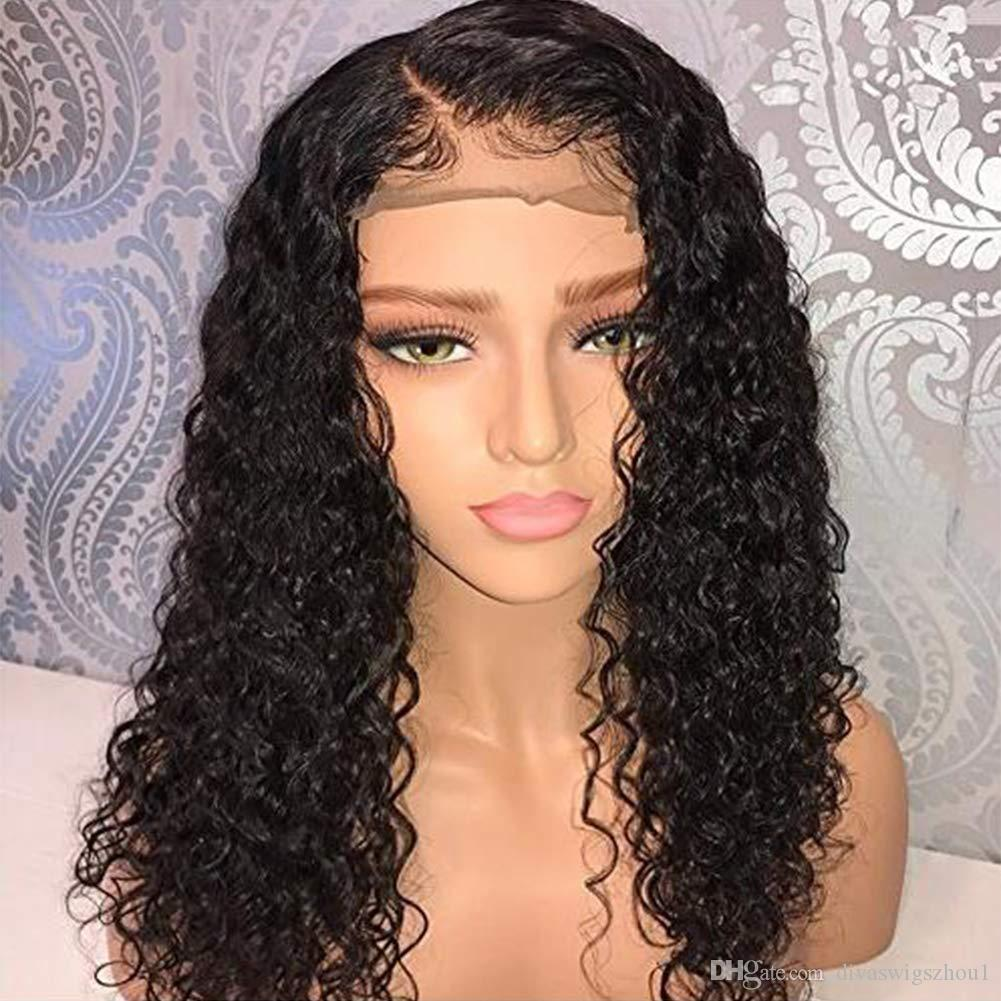 "Pelucas de cabello humano de encaje completo Pelucas de encaje 360 Cabello brasileño virgen 12-24 ""Curly Pre-plucked Natural Hairline 130% Density Human Lace Wigs"