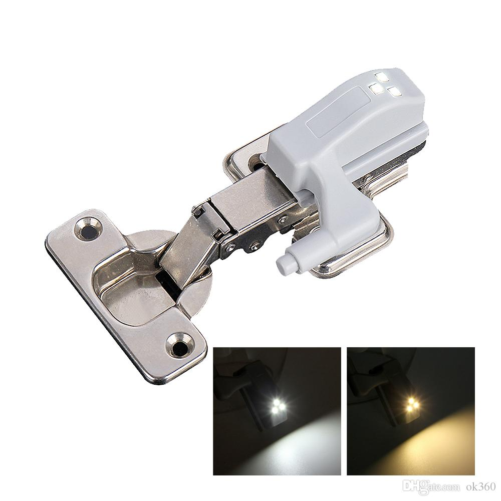 Universal Móveis Armário Gabinete Wardrobe dobradiça Led Sensor Lâmpada Night Light Porta Cozinha lâmpada LED Energy Saving Início Luzes