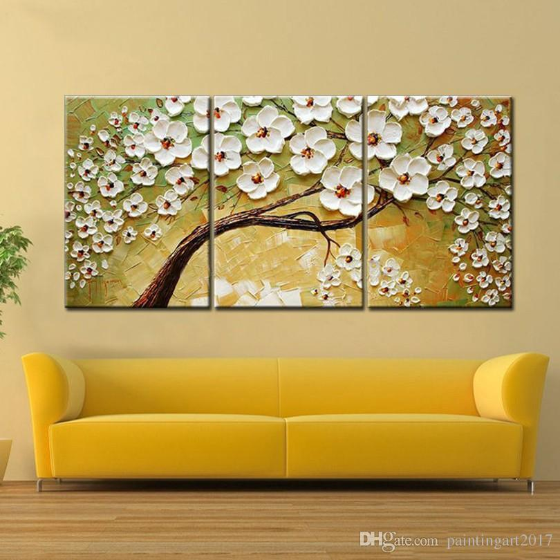 Lucky Tree Modern Abstract Oil Painting home decor wall art picture flowers on palette thick knife oil painting