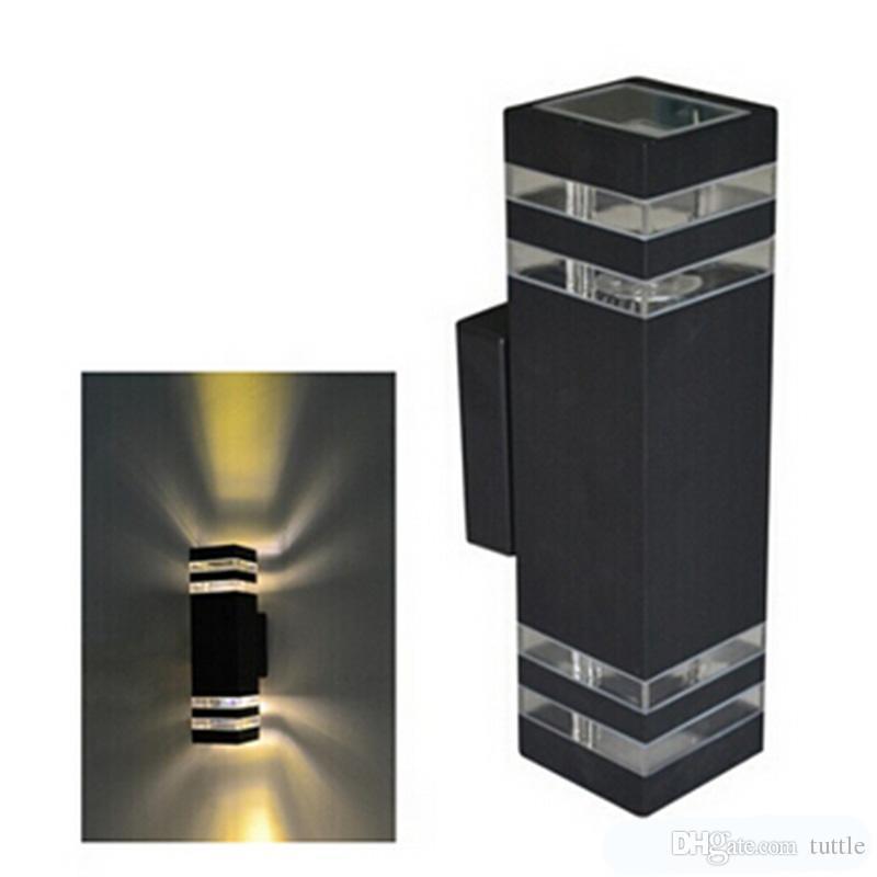 DHL 옥외 방수 LED 벽 램프 IP65 AC90-260V 2pcs * 5W LED 전구 알루미늄 안마당 정원 현관 복도 조명