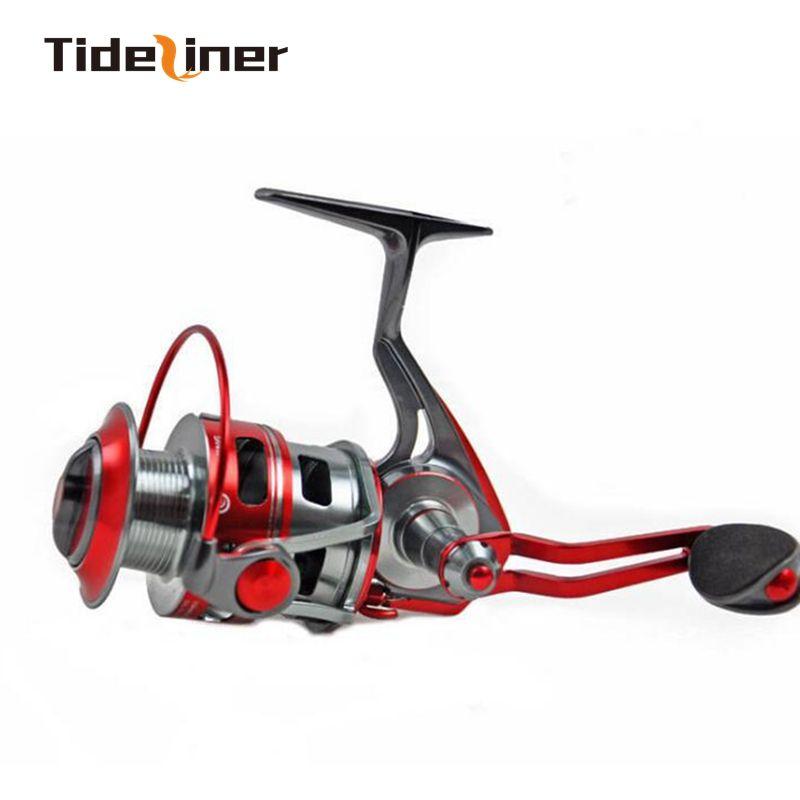 Top qualité Pré-chargement Bobine de filature Ratio de vitesse 5.1: 1 Bobine de pêche à la mèche à filer 11 + 1 entièrement métallique Fake Bait