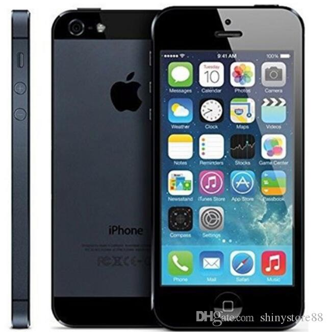 Usado original Apple iPhone 5 desbloqueado celular ios 10 dual núcleo 16GB / 32GB / 64GB 8MP