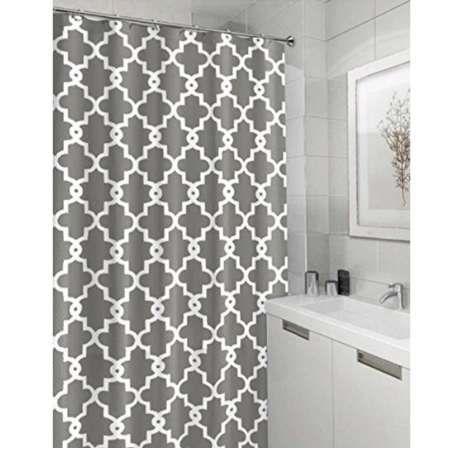 Память главная геометрическая узорной водонепроницаемый полиэстер ткань серый занавески для ванной комнаты Декор мульти размер занавески для душа