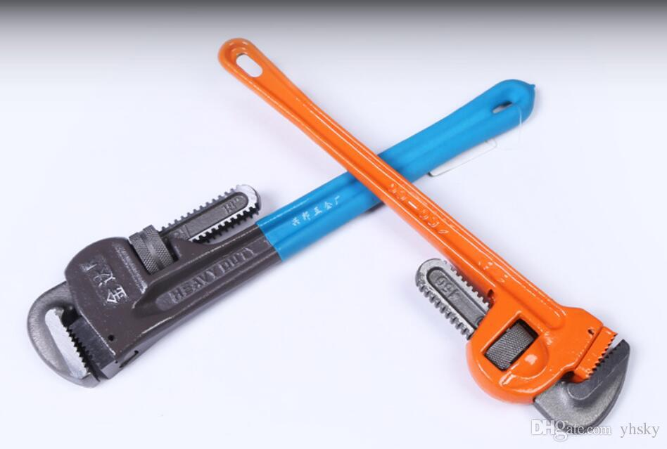 Chave Ajustável de alta Qualidade chave de tubulação pesada braçadeira de montagem ferramenta de reparo da tubulação 8 polegada-18 polegada chave universal