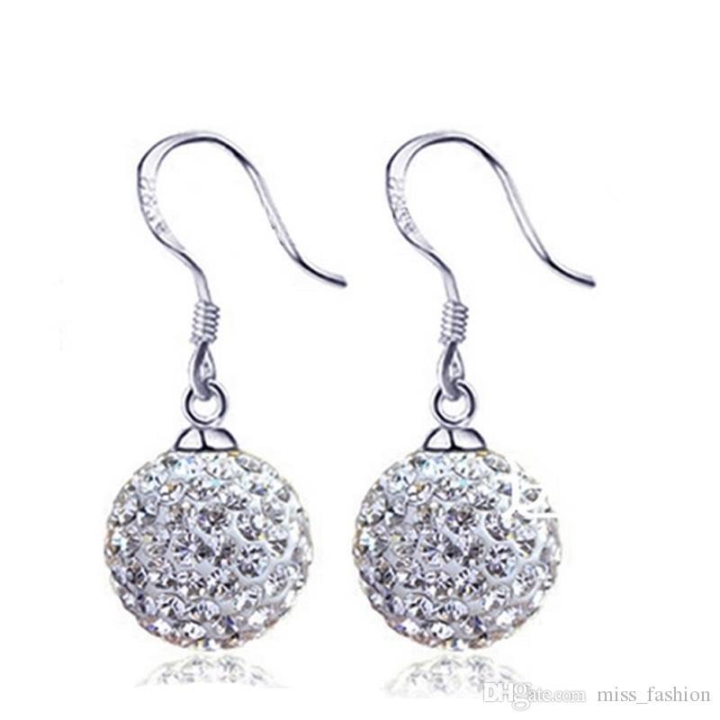 Shambhala oor hoepel oorbel gratis verzending eenvoudige shambhala bal oorbellen charme meisje vrouw cadeau hete oorring