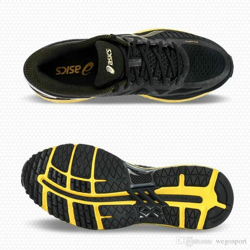 Großhandel Mit Box Asics MetaRun Herren Outdoor Professional Stoßdämpfer Laufschuhe Schwarz Golden Athletic Sport Sneakers US 7.5 11.5 Von