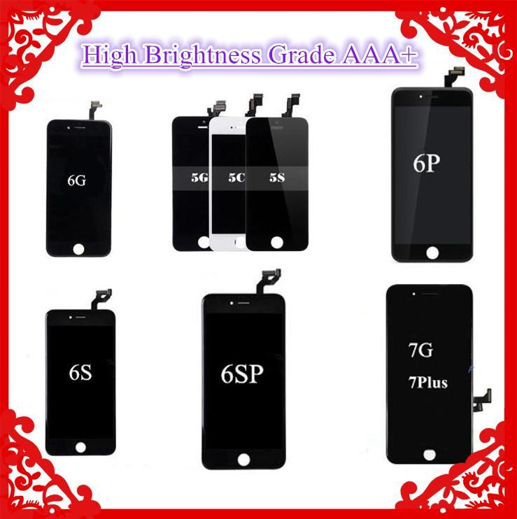(Producto de gama alta) Pase gafas de sol Calidad Premium Grado A +++ Pantalla táctil LCD Digitalizador para iPhone 5SE 6 6 Plus 6S 7 7 Plus 8 8 Plus