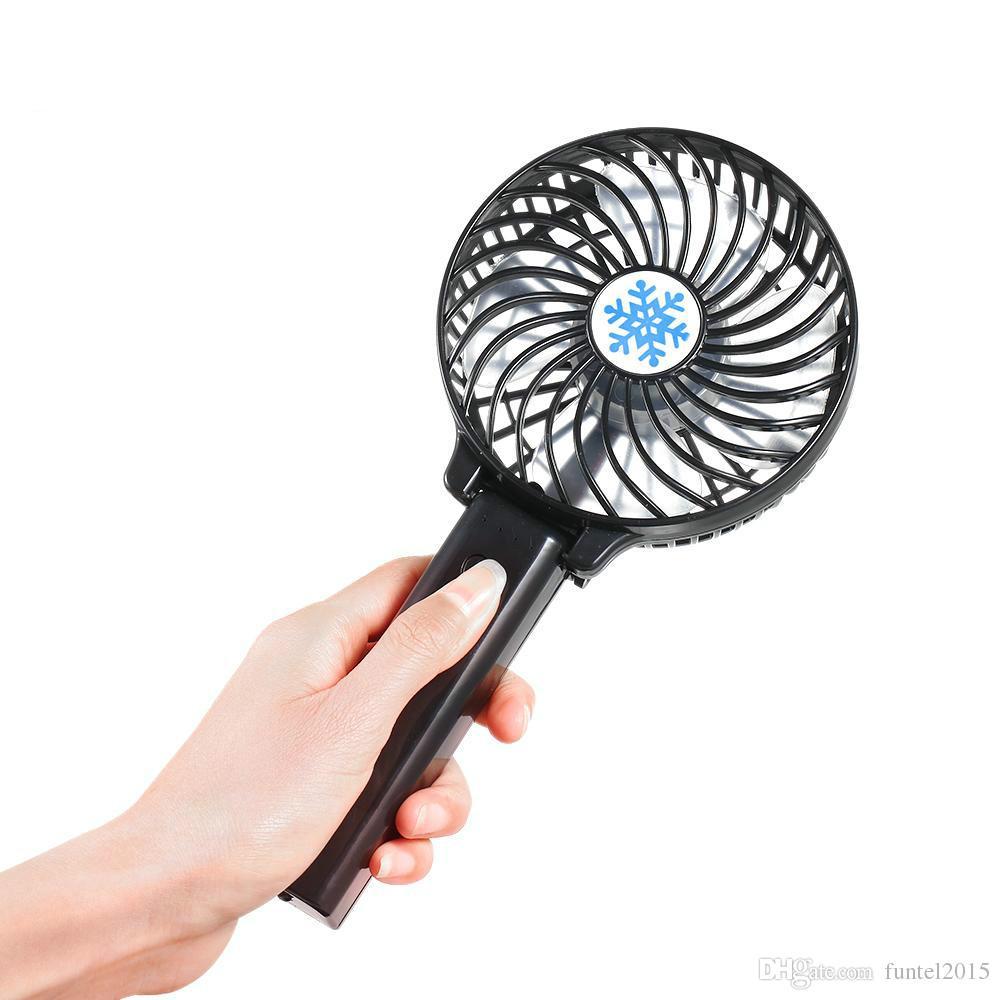 Taşınabilir Mini USB Fan Havalandırma Katlanabilir Klima Fanları El Ofis Ev Için Şarj Edilebilir Fan Soğutma Fanı Düzenlendi