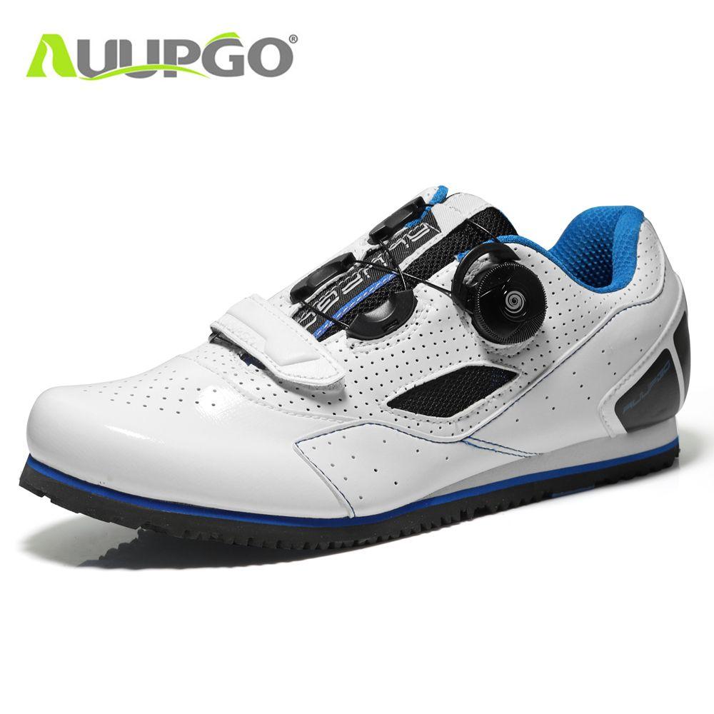 Non-lock leisure road bike cycling shoes professional MTB mountain bike shoes men women ultralight 660g non-slip white 36-45