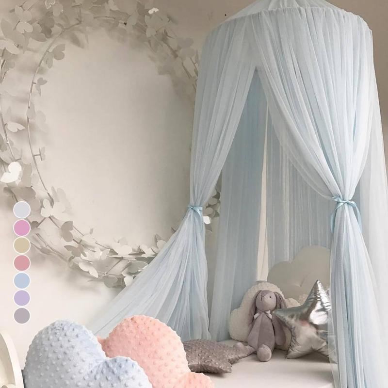 240 cm Nette kinder bett zelt Baby Bett Vorhang Runde Krippe Zelt Hing Dome Moskitonetz Fotografie Requisiten R7