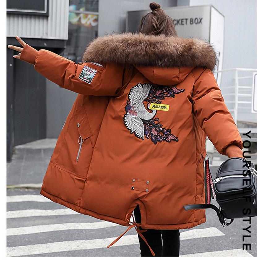 Wjustforu Mode Lange Parka Mantel Frauen Lose Mit Kapuze Weiße Ente Daunenjacke Weibliche Winter Warme Oberbekleidung Winddicht Da ...