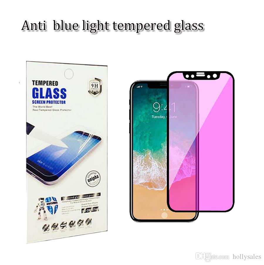 brand new anti blue light resistant toughened film 2.5D 9H tempered glass screen protector for iphone X 7 8 PLUS AND XR XS MAX is coming