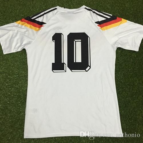 ALEMANIA 1990 futbol forması bağbozumu klasik MATEUS Völler KLINGSMANN camisetas futbol camisa futebol maillot de ayak Retro