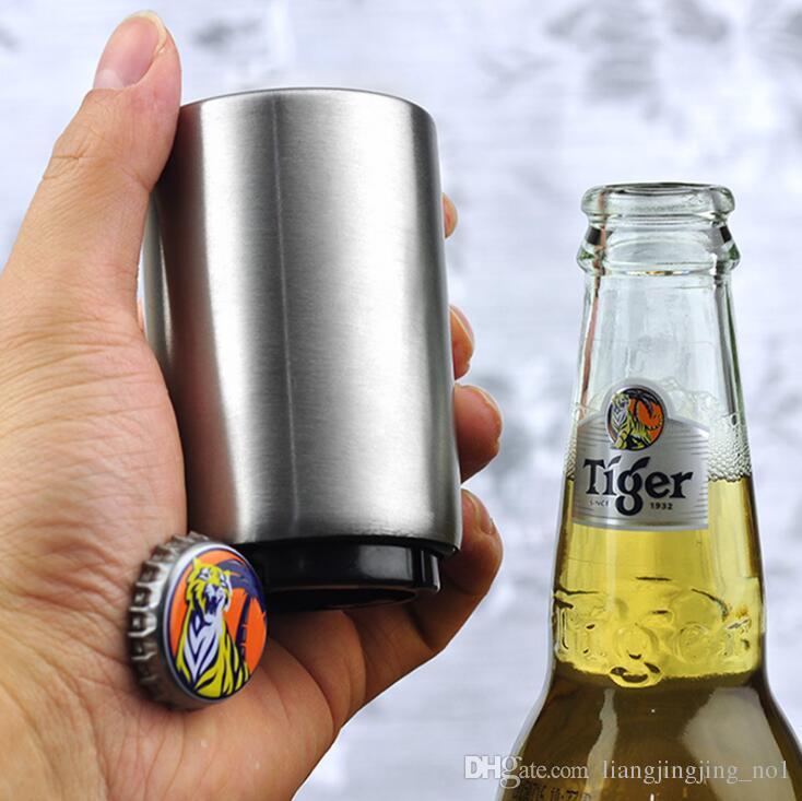 Abridores de botellas de cerveza de acero inoxidable Abres de botellas automáticas Botella de vino Botella de abrigo Barra de cocina Herramientas Accesorios HA30