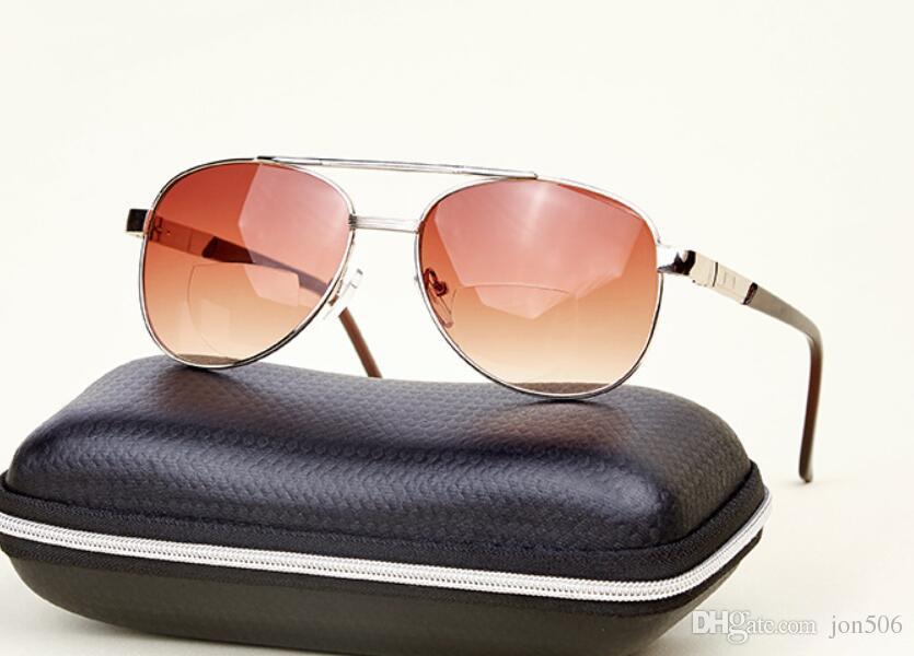 BIFOCAL SUNGLASSES DESIGNER GOLD AVIATOR PILOT GLASSES SUN READERS 100/% UV Strength 1.75