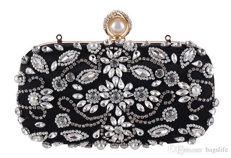 Yeni varış kadın debriyaj çanta moda akşam çanta elmas çanta el çantası