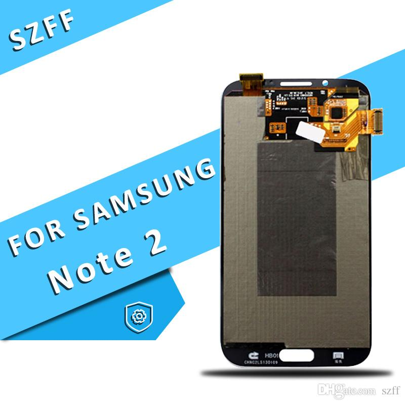 For Samsung Galaxy Note 2 II LCD Screen Display Touch Digitizer Assembly N7100 N7105 i317 i605 L900 T889 R950 Free Shipping DHL