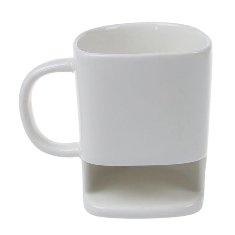 FREE P+P Biscuit Pocket Cup 2 sizes Large Novelty Mug with Biscuit Holder