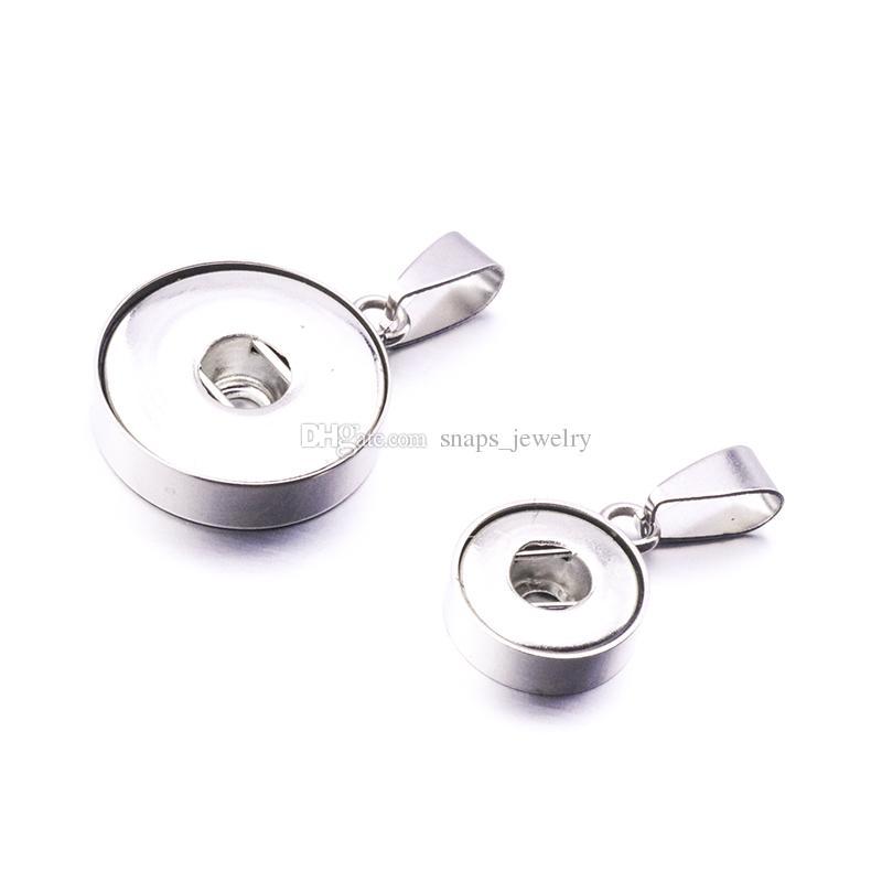 Noosa In acciaio inox 12mm 18mm bottone a pressione Accessori in metallo Bottone per fare DIY Snap Bracciale Collana Snap gioielli
