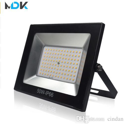 220V LED FloodLight 10W 30W 50W 100W Reflector LEDs Flood Light Waterproof IP66 Spotlight Wall Outdoor Lighting Warm Cold White