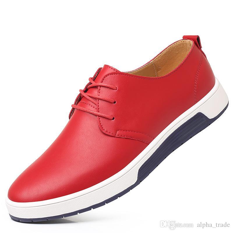 2018 nouveaux hommes de grande taille affaires chaussures de sport de luxe marque de luxe coréenne luxe confortable robe plate chaussures Oxford noir blanc chaussures