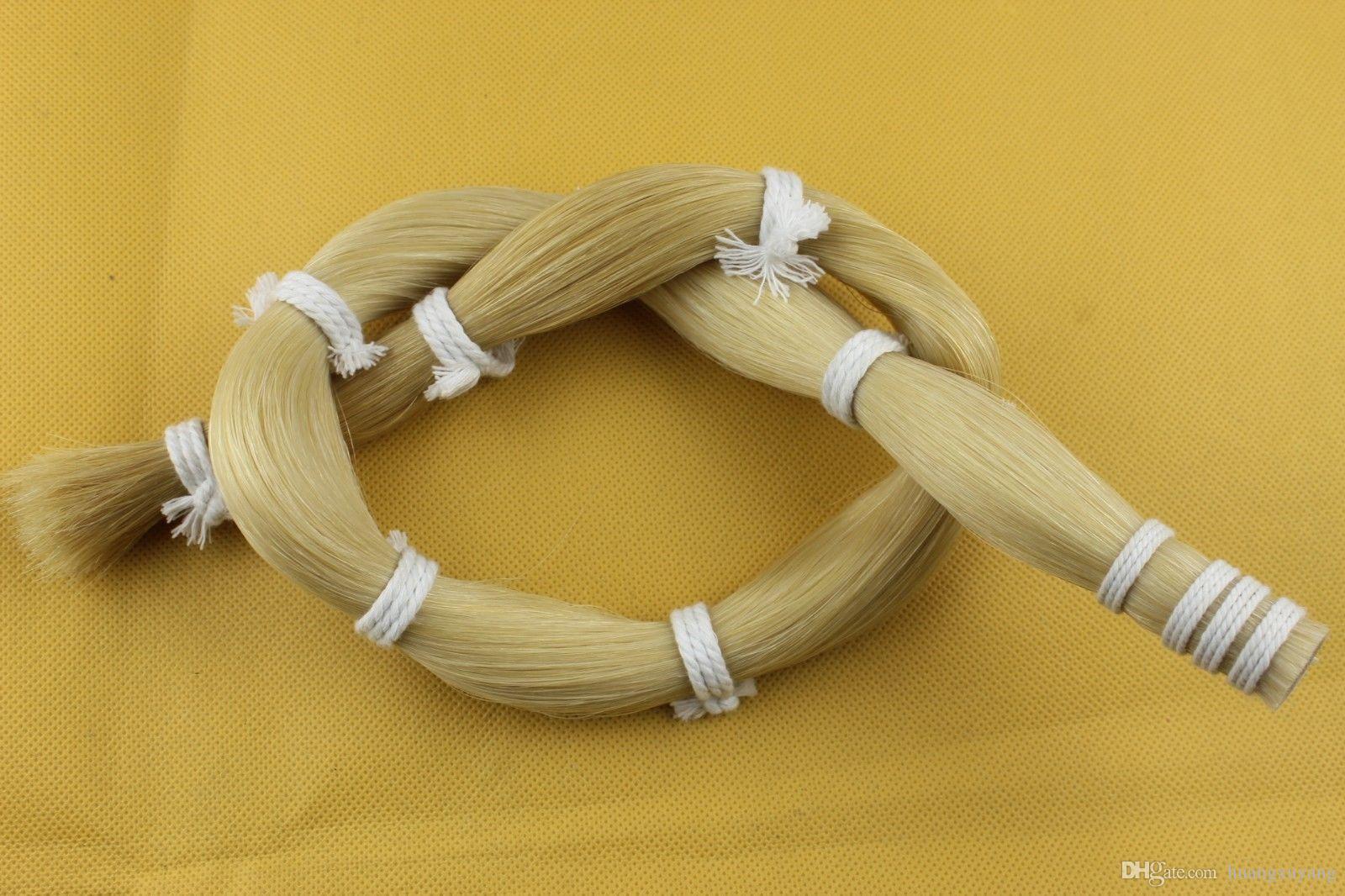 Cabello de cola de caballo blanco mongol de 250 g a granel Arco de violín de alta calidad
