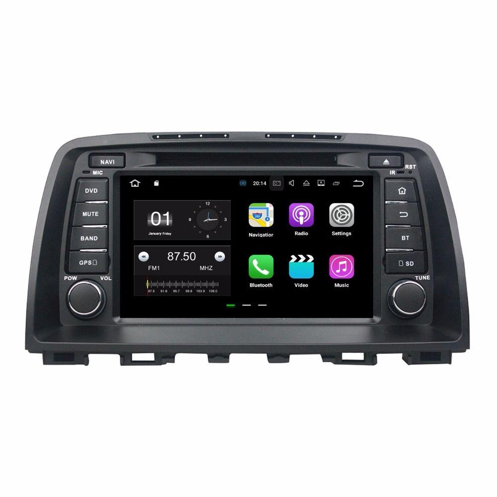 """ذاكرة الوصول العشوائي 2 جيجا رام كواد كور 8 """"أندرويد 7.1 سيارة دي في دي سيارة أغنية مشغل دي في دي لمازدا 6 2012 2013 2014 مع راديو GPS WIFI بلوتوث 16GB ROM DVR"""