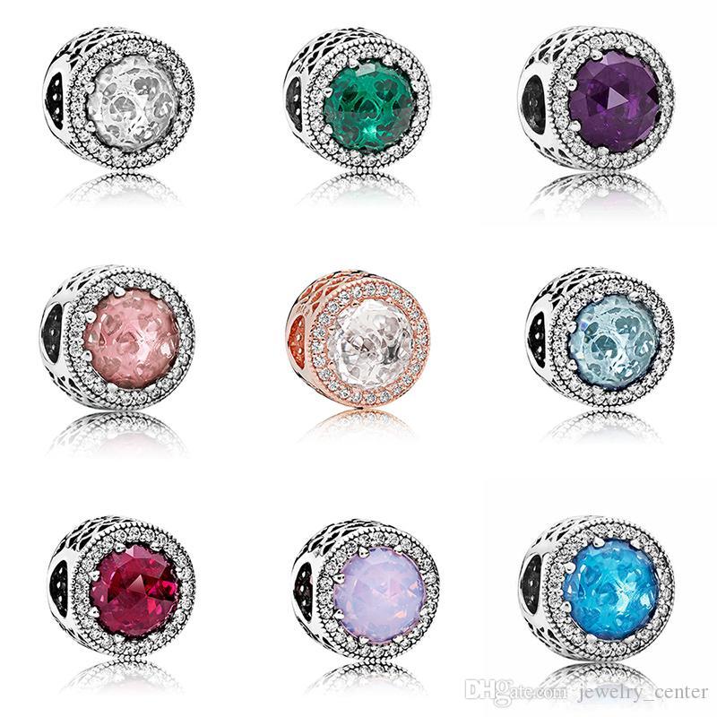 Mode classique en argent sterling 925 perles de verre de Murano européenne charmes pour Pandora chaîne serpent bracelet bracelets bijoux bricolage