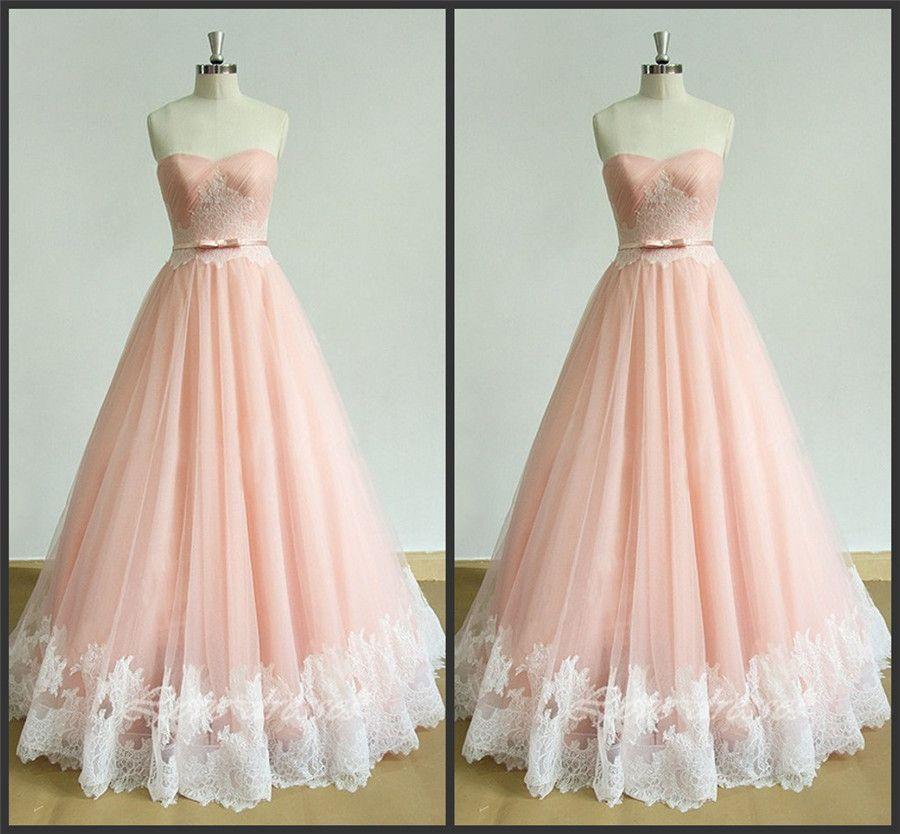 핑크 아가씨 넥 라인 Draped 바닥 길이 Tulle 이브닝 드레스 레이스 Applique 누드 핑크색 파티 드레스 파티 드레스와 블러쉬