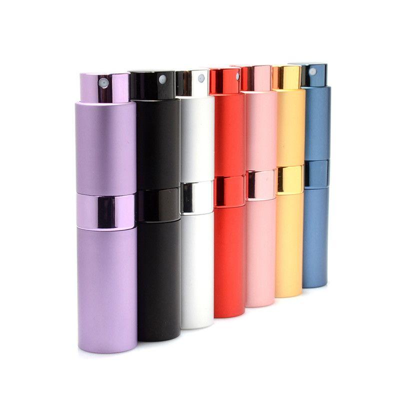 Yeni 10 ml Seyahat Parfüm Şişesi Atomizer Parfüm Şişeleri Sprey Koku Pompa Kılıf Için Taşınabilir Mini kozmetik kapları 7 Renkler