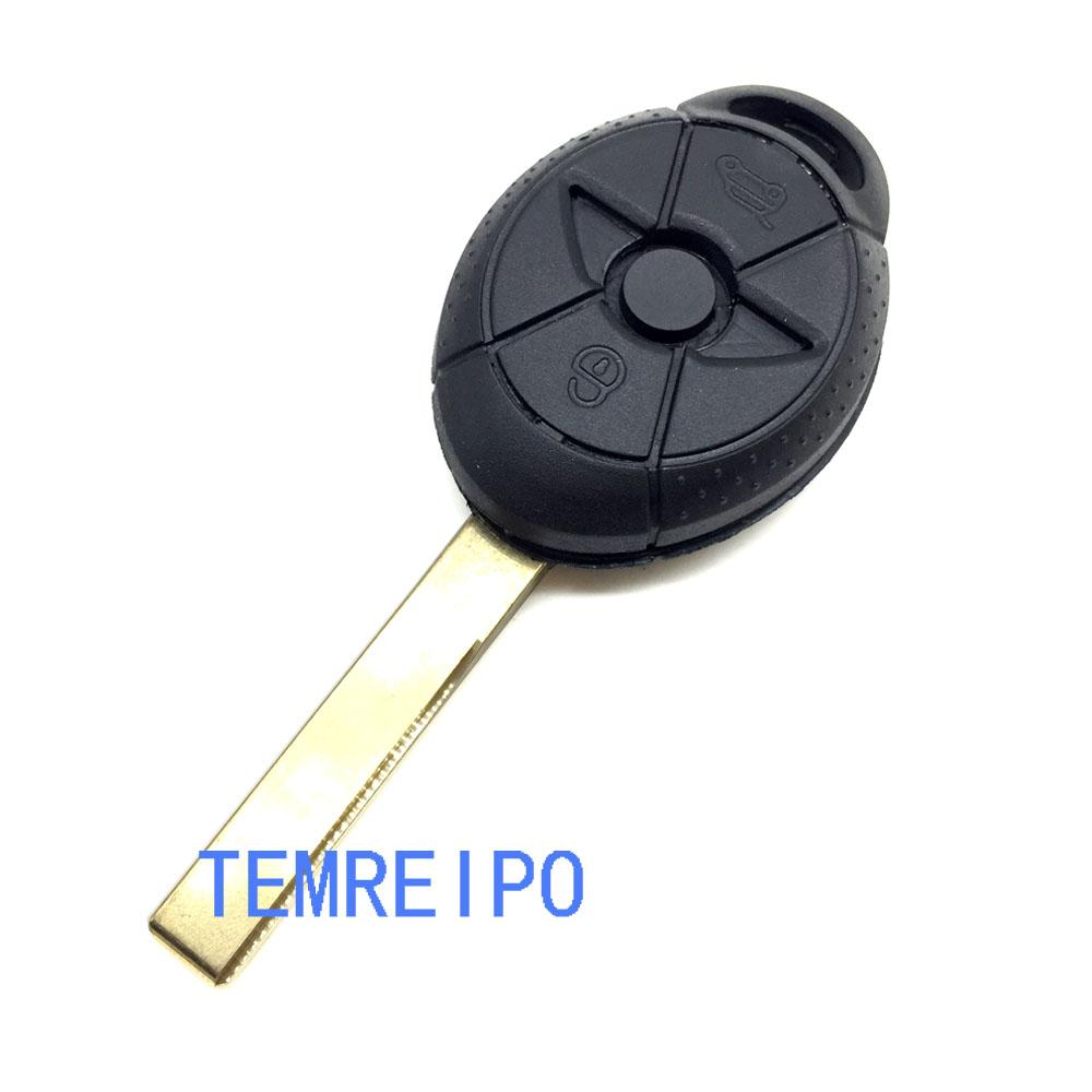 No Chip Uncut Blank 3 Buttons Remote Key Case Shell For BMW Mini Cooper S R50 R53 Replacement Key Fob Cover