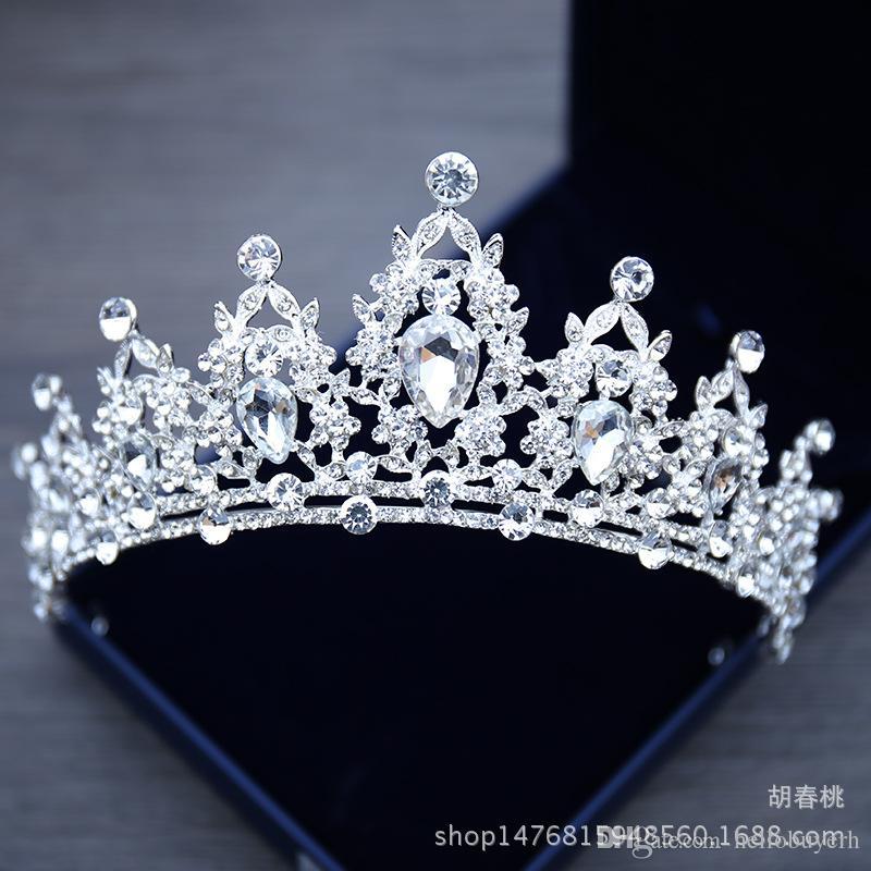 Brautschmuck Tiara Kopfschmuck Weiß Kristall Crown Braut Prinzessin Crown Kopfschmuck Für Hochzeitskleid 2018 Hochzeit Brautaccessoires