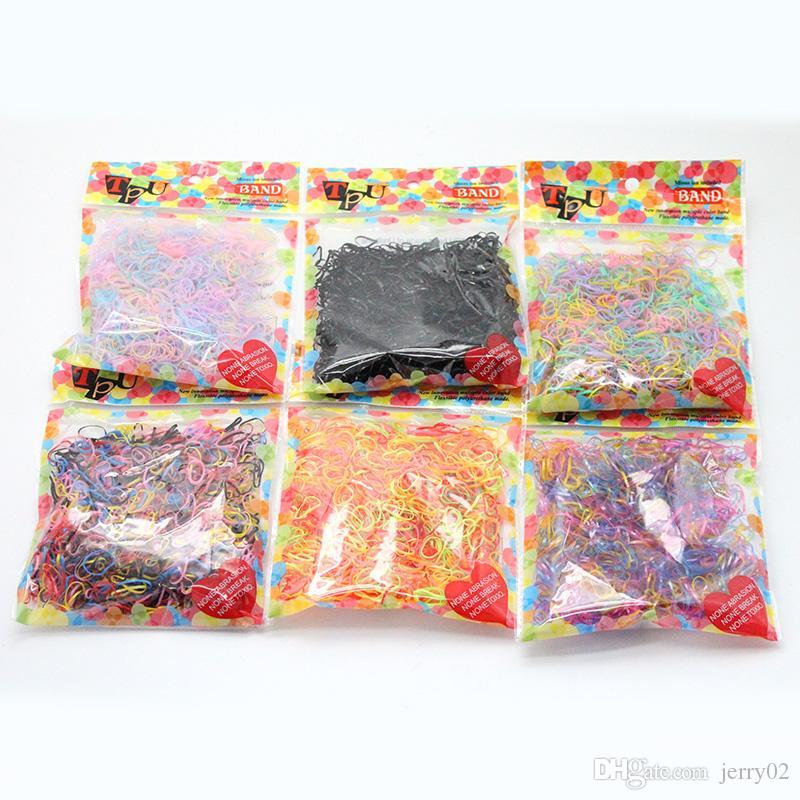 3000 pcs/lot Hair Accessories Scrunchy Elastic Bands Girls clip decorations Headdress acessorios for hair ties