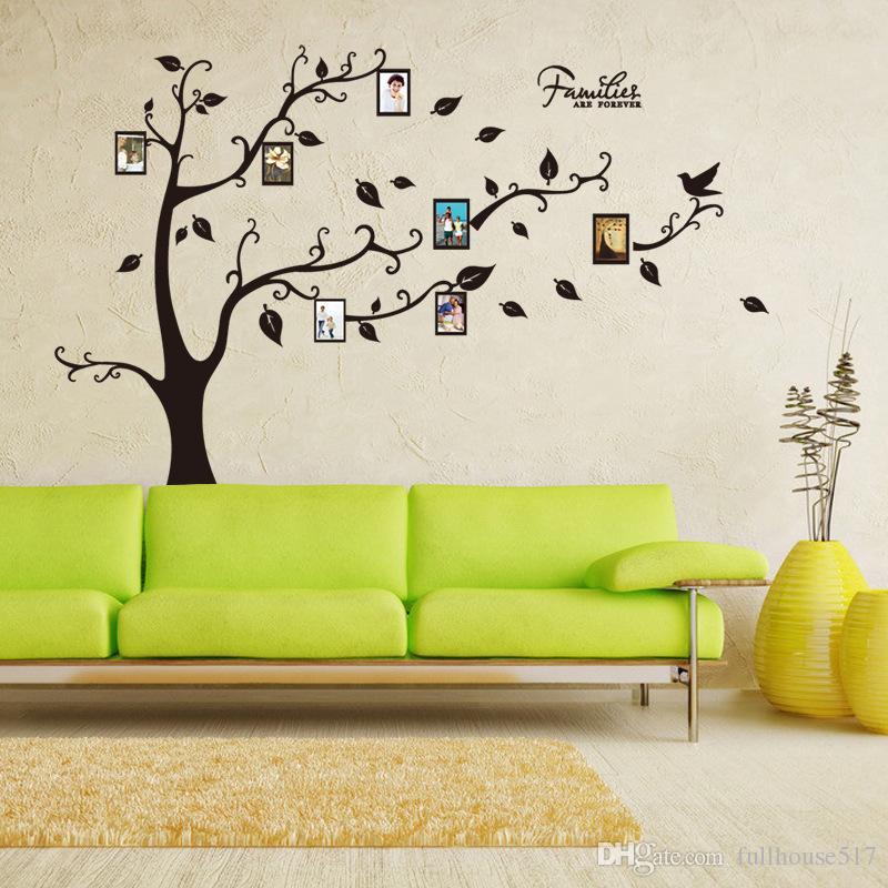 عائلة DIY جدار ديكور شجرة العائلة الصفحة الرئيسية ديكور شجرة الأسود القابل للإزالة ملصق غرفة شجرة العائلة ملصقات الحائط الفن الفينيل