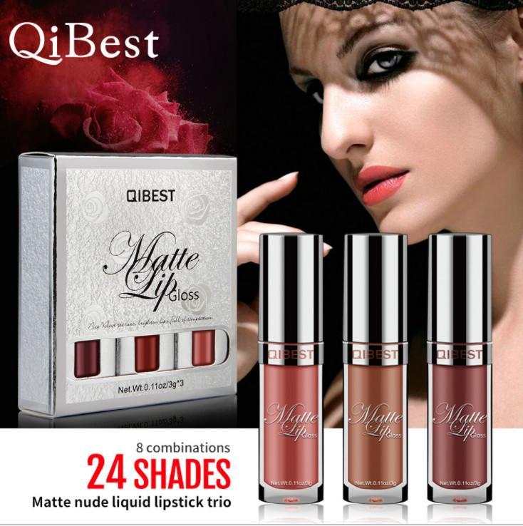 Lip Gloss 2018 Creative New Fashion 24 colori Scegli il rossetto liquido con pacchetto regalo pacchetto trucco per le donne nuovo arrivo Bea064