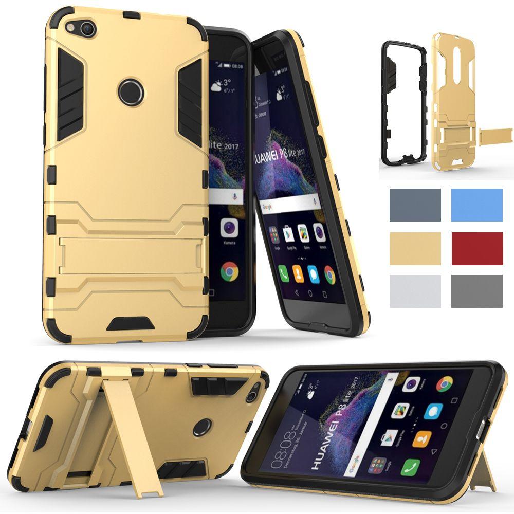 Huawei Honor 8 Lite Coque Smartphone Kickstand Armure Pour Huawei P8 Lite 2017 Coque Rigide Silicone Pour Honor8 Lite P8 Proposé Par Alisa201809, 4,32 ...